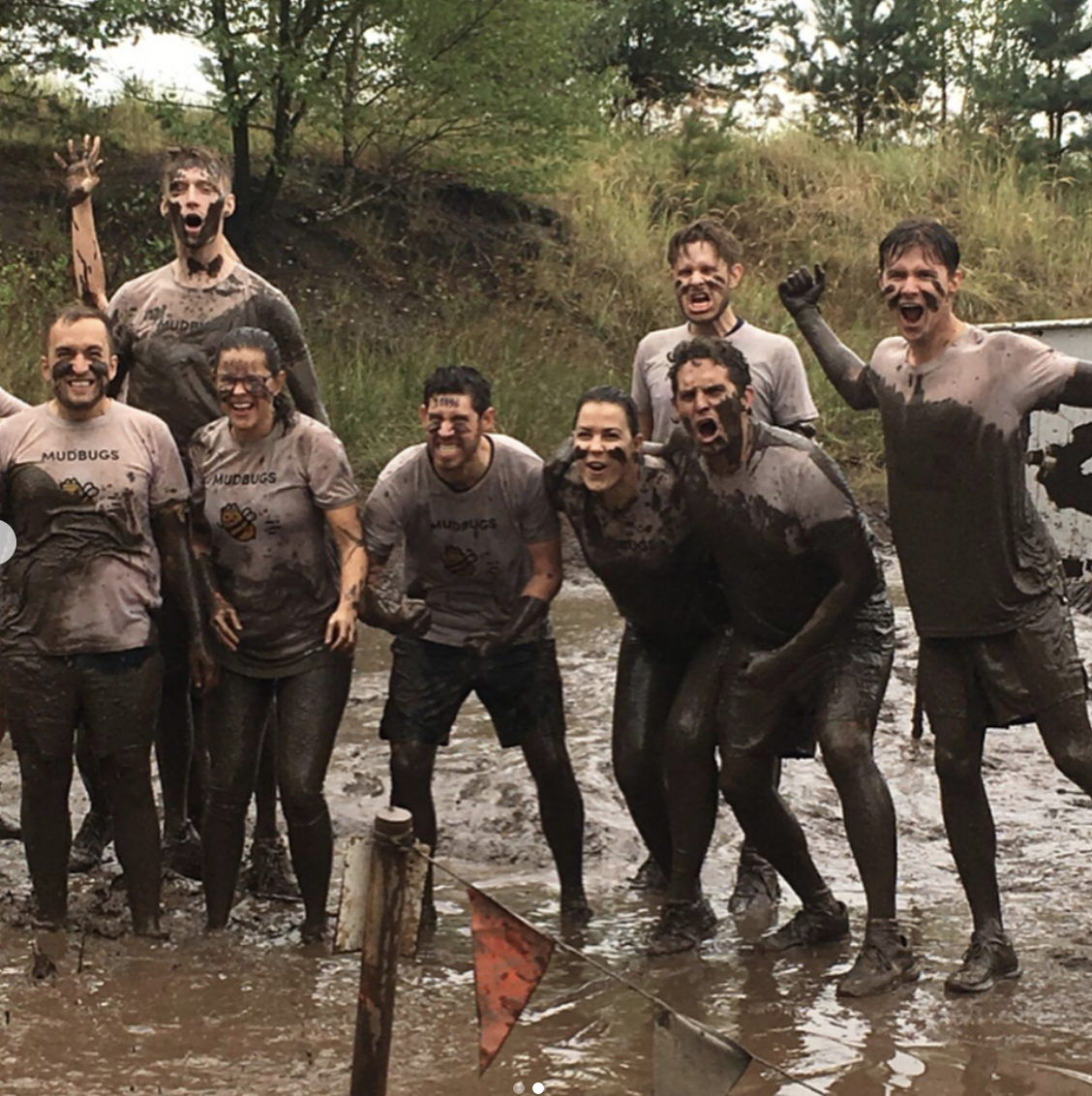The Chatterbug team Tough-Muddering it up